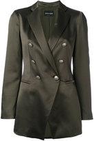 Emporio Armani double breasted blazer - women - Silk/Polyester - 44