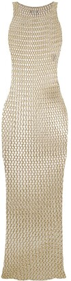 Faith Connexion Sleeveless Fishnet-Style Dress