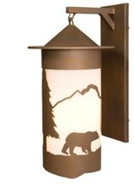 Mica Bear Pasadena Extra Large Hanging 1-Light Outdoor Wall Lantern Steel Partners Finish: Old Iron, Shade Color: White