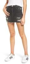 Hudson Women's Vivid Cutoff Denim Miniskirt