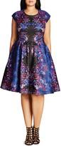 City Chic Femme Royal A-Line Dress
