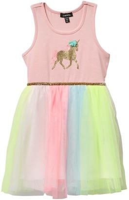 Zunie Unicorn Tank with Rainbow Tutu Dress (Toddler Girls)