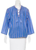 Vanessa Bruno Striped Long Sleeve Top w/ Tags