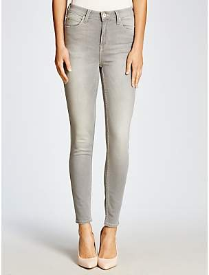 Lee Skyler High Waist Skinny Jeans, Clean Silver