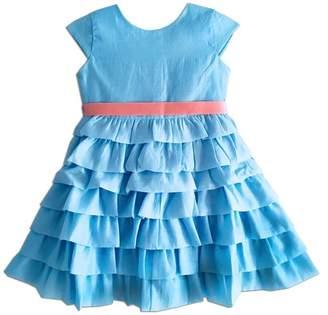 Joe Ella Audrey Organza Tiered Sash Dress (Toddler, Little Girls, & Big Girls)