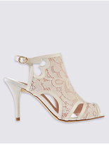 M&S Collection Stiletto Vamp Lace Sandals