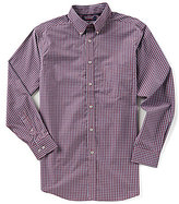 Roundtree & Yorke Trademark Big & Tall Long-Sleeve Checked Sportshirt