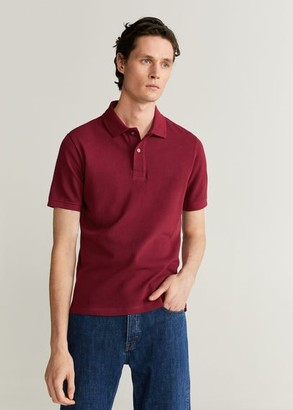 MANGO MAN - Cotton basic polo shirt ochre - S - Men