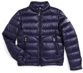Moncler Kid's Acorus Channel Quilted Down Moto Jacket
