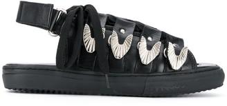 Toga Pulla Buckled Cage Slingback Sandals