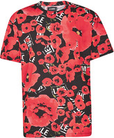 Les Hommes Allover Poppy T-shirt