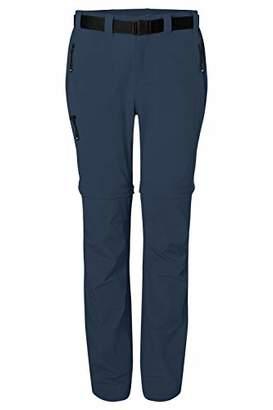 James & Nicholson Women's Ladies' Zip-Off Trekking Pants Trouser, Blue Navy, (Size: X-Small)