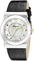 Salvatore Ferragamo Women's FI1990015 VEGA Stainless Steel Watch with Gold-Tone Accents