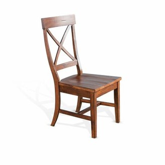Durocher Dry Leaf Crossback Solid Wood Dining Chair August Grove Color: Vintage Mocha
