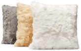 "Adrienne Landau Rabbit Fur Decorative Pillow, 20"" x 20"""