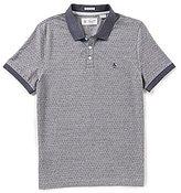 Original Penguin Birdseye Dobby Jacquard Short-Sleeve Polo Shirt