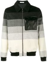 J.W.Anderson striped bomber jacket