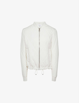 Reiss Carla diamond-quilted woven bomber jacket
