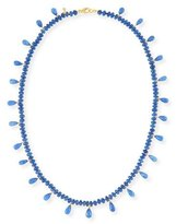 Splendid Smooth Blue Sapphire & Faceted Briolette Necklace