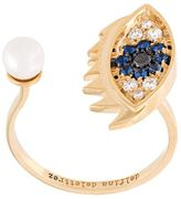 Delfina Delettrez 'Eyes on me piercing' diamond and sapphire ring