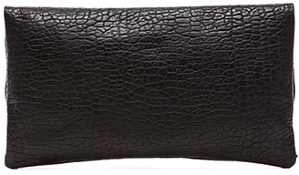 Clare Vivier Foldover Clutch in Black.