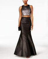 Xscape Evenings 2-Pc. Sequined Mermaid Gown