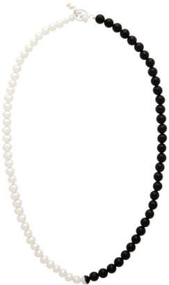 Www.Willshott WWW.WILLSHOTT White and Black Split Necklace