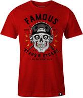 Famous Stars & Straps Men's Skull Drummer-Print Cotton T-Shirt