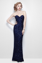 Primavera Couture - 1441 Strapless Sequined Long Gown with Bolero