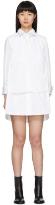Sacai White Poplin Shirt Dress