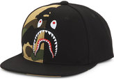 A Bathing Ape Shark camouflage cotton snapback cap