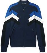 Neil Barrett Intarsia-knit Zip-up Sweater