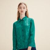 Maje Embroidered silk shirt