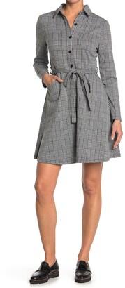 Papillon Glen Plaid Long Sleeve Shirt Dress