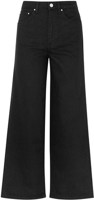 Totême Flair Black Wide-leg Jeans