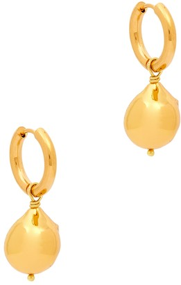 Sandralexandra Gold Nugget gold-tone hoop earrings