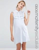 Asos Shirt Dress in Stripe with Ruffles