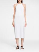 DKNY Crepe Dress With Side Slit