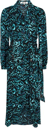 Diane von Furstenberg Stella printed wrap-effect midi dress