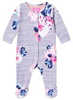 Joules Navy Floral Stripe Babygrow