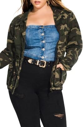 City Chic Camo Jacket