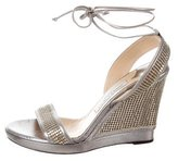 Jimmy Choo Metallic Embellished Wedges