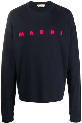 Marni logo long-sleeved T-shirt
