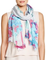 Fraas Painted Floral Scarf