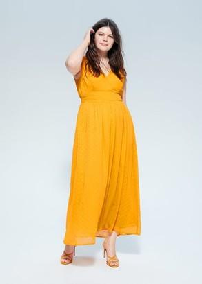 MANGO Violeta BY Plumeti long dress yellow - 12 - Plus sizes