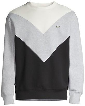 Lacoste Double Faced Colorblock Chevron Sweatshirt