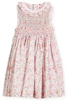 Luli & Me Floral Sleeveless Smock Dress, Size 2-4T