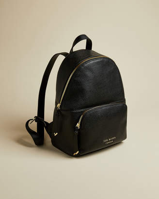 Ted Baker ROZIIE Zip detail soft leather backpack