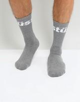 Stussy Jacquard Logo Socks In Grey