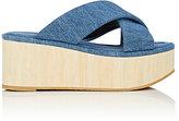 Robert Clergerie Women's Ficeb Denim Platform Slide Sandals